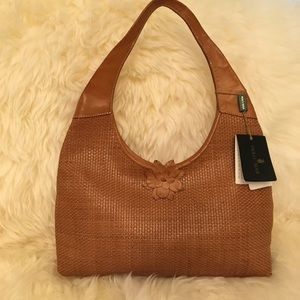 Paolo Masi  Italian Woven Leather bag.